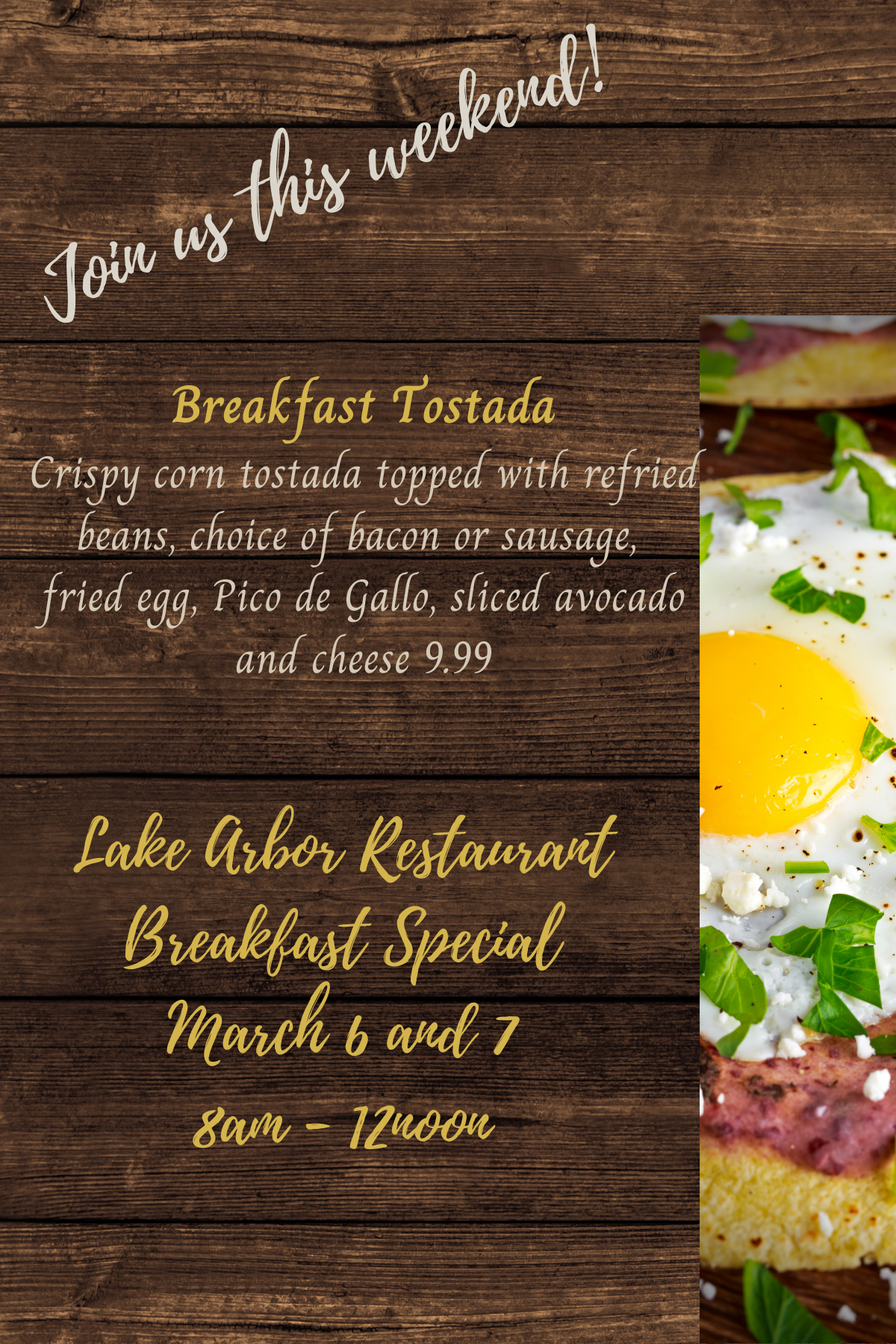 Mar 6 7 Breakfast Tostada table tent